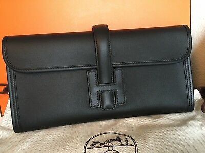 0ab36325a919 AUTHENTIC NWT HERMES Jige Elan 29 Clutch Bleu Zellige Swift Leather ...