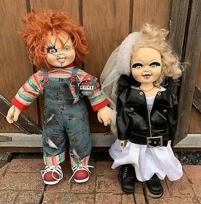bride of chucky chucky and tiffany dolls life size nice condition