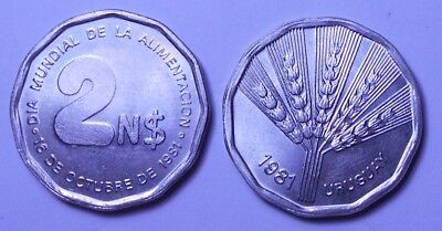 URUGUAY 2 Nuevos Pesos 1981 World Food Day BU