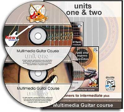 GUITAR lessons for beginners of electric, acoustic guitar - full 2 year course