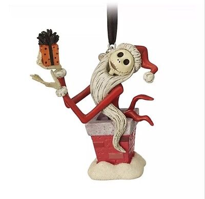 Disney Store Jack Skellington Festive Hanging Ornament Christmas Decoration New