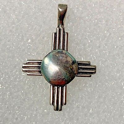 Sterling Silver Plain Large Small Smooth New Mexico Zia Symbol One Piece Pendant