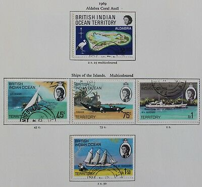 BIOT 1969 Coral Atolls & Ships of the Islands sets (5) SG31-5 Fine Used
