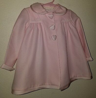 2 Pc. Vintage Child or Dolly Dress & Coat, Size 24 Months, Pink 🦄
