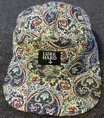 242b202b0c10a Lurk Hard Paisley 5 Panel Hat Box Logo HUF The Hundreds F Cking Awesome DQM  Real