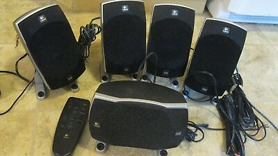 Lot of 5 Logitech Z-5500 505 Watt THX-Certified  Speakers with wires and remote