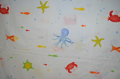 Pottery Barn Kids Bedding Crib Duvet Cover, Crib Bed Skirt, Curtains Sea Life