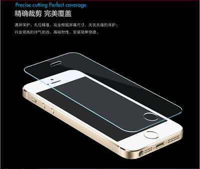 For iPhone SE 5S 5C Clear Film Real Premium Tempered Glass Screen Protector AA