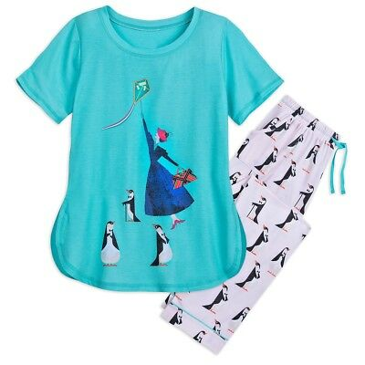 Mary Poppins Returns Disney Authentic Pajama Set for Adult Woman Size Large