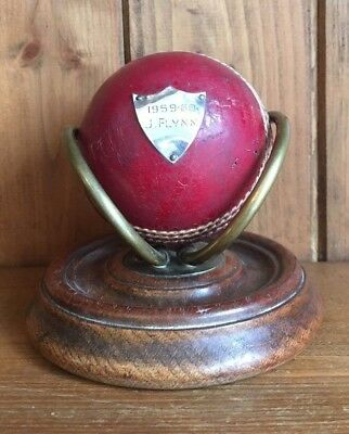 Vintage 1959 Cricket Ball Trophy, trophies, cricket trophies, cricket, trophy