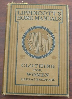 1924 Lippincott's Home Manual Clothing For Women Flappers Sewing Instruction