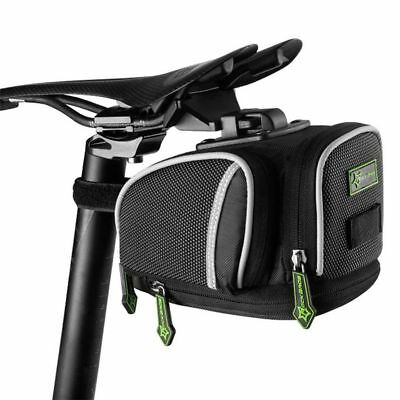 RockBros Bicycle Seat Post Bag Fixed Gear Pannier Bike Saddle Bag Black