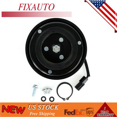 A/C Compressor Clutch Pulley With Bearing Coil Plate For 08-13 Nissan Rouge 2.5L