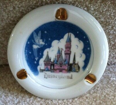 Tinkerbell Castle Vintage Logo Ashtray 70's Gold Japan Disneyland  Park Souvenir