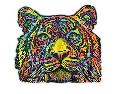 Tiger Face T Shirt, Graphic, Majestic,POP Art, Novelty T-Shirt, Small - 5X
