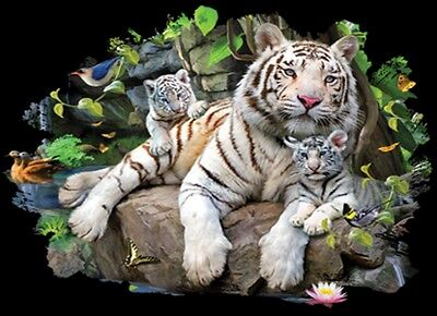 Tiger Shirt - White Tiger Family - Jungle - Many Colors - Small - 5X