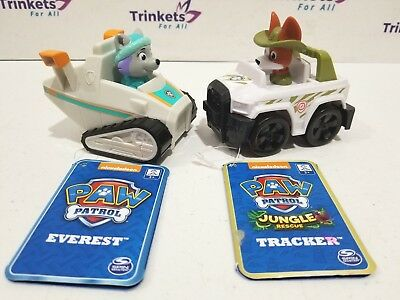 Paw Patrol Rescue EVEREST Snow Blower & Jungle TRACKER Rescue Racer
