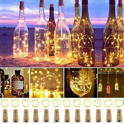 10-20 LED String Light Wine Bottle Cork Wire Fairy Lights Christmas Decoration