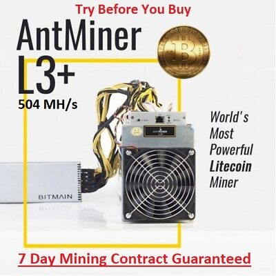 🔥OVERCLOCKED L3+ (604 MH/s) 7 day Mining Contract + 1 day FREE Guaranteed🔥