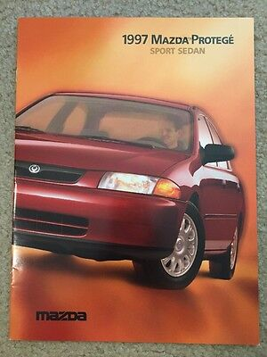 1997 Mazda Protege Sedan 15 Page Sales Brochure, Good Condition