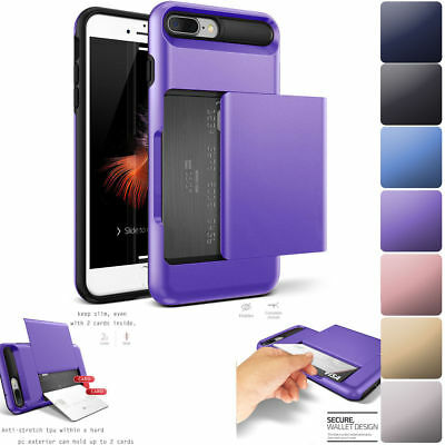 Fits Apple iPhone Case Protective Wallet ID Credit Card Holder Shockproof Cover