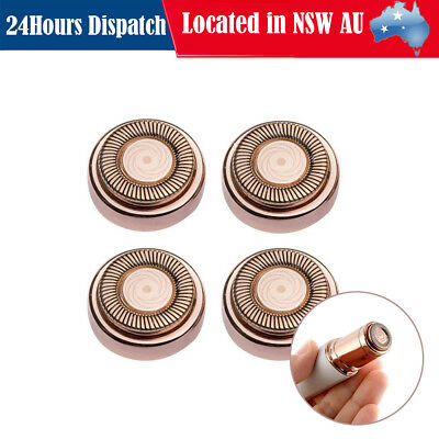 4x Flawless Hair Remover Replacement Heads Facial Body Epilator Replacing Blades