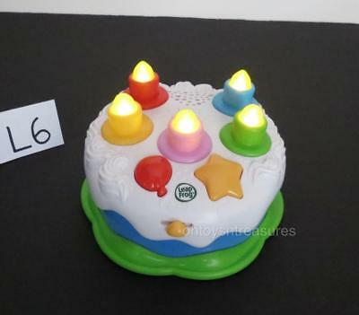 LeapFrog Musical BIRTHDAY CAKE Counting Candles Lights Sounds Learning Toy L6