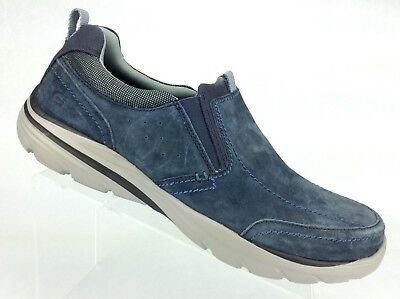 SKECHERS 64806 RELAXED Fit Corven Espino Navy Blue Leather