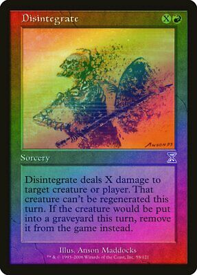 Timeshifted NM Red Special MAGIC MTG CARD ABUGames Disintegrate Time Spiral