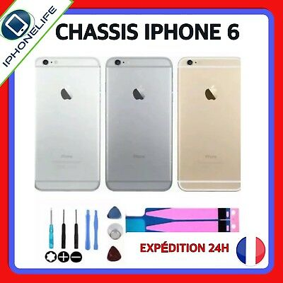 Coque Arrière + Bouton +Tiroir+Adhesif  Chassis Iphone 6 Gris Sideral/Argent/Or