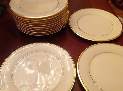 Lenox Eternal Dimension Collection China Salad Plates Set of 8