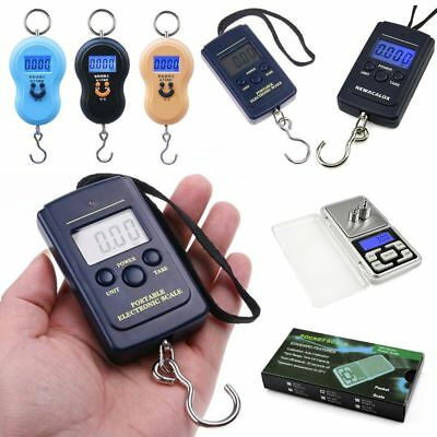 50Kg Portable Electronic LCD Digital Hanging Luggage Weight Hooks Scale