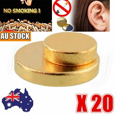 20x Quit Stop Smoking Auricular Ear Magnet Therapy Smoke Weight Acupressure RY