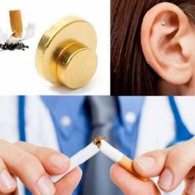 Quit Smoke Ear Magnet Anti-Smoking Cigarettes Magnetic Weight loss AcupressureRY