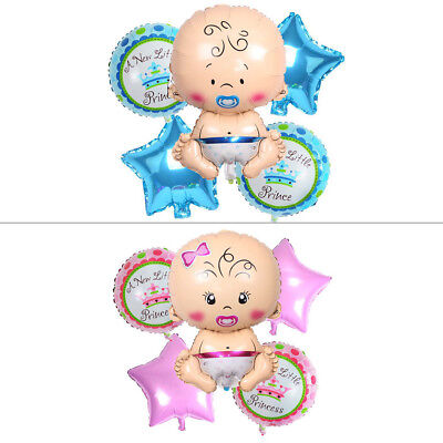 5pcs Boy Foil Helium Balloon for Baby Shower Newborn Christening Birthday Party