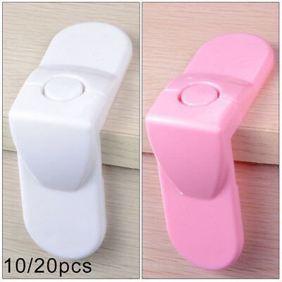 10/20pcs Child Infant Baby Kid Drawer Cabinet Cupboard Toddler Safety Angle Lock
