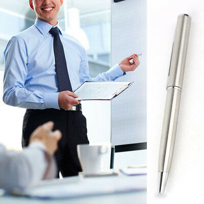 Office Business Signature Rotating Metal Ballpoint Pen Stainless Steel Rod Gift