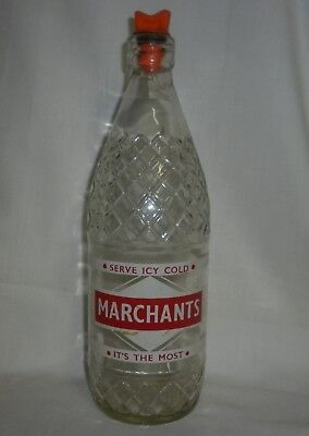 Vintage Marchants Bottle with Stopper - Collectable