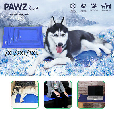 Dog Cooling Mat Pet Cat Non-Toxic Summer Cool Gel Bed  Pad Cushion Collar 4 Size