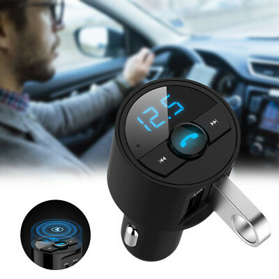 Car USB Charger Bluetooth FM Transmitter Radio Adapter MP3 Player Quick Charge