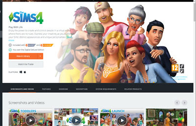 The Sims 4 DELUXE DIGITAL PC ORIGIN OFFLINE READ DESCRIPTION
