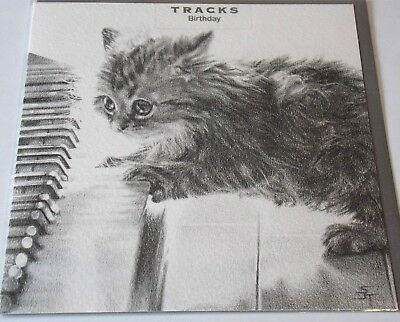 Kitten Themed Birthday Card By Tracks Cards Cat Kittens Piano Theme