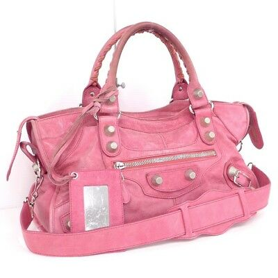 450041ff0d Balenciaga 2WAY shoulder bag The Giant part-time leather pink 173082 (26493