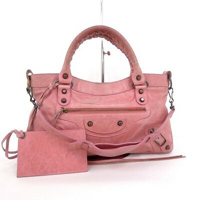 be78323e00 Balenciaga The First 2WAY shoulder bag leather pink 103208 (27351