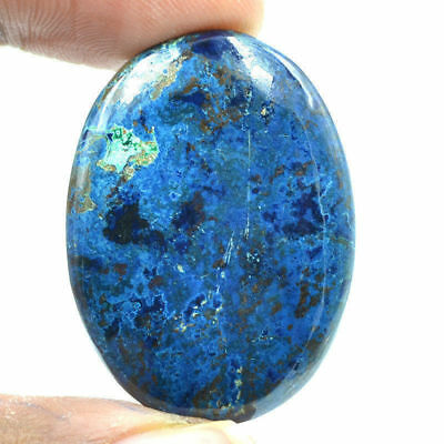 Cts. 56.8 Natural Azure Color Azurite Cabochon Oval Cab Loose Gemstone