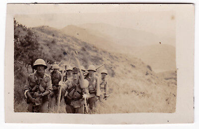 WW2 JAPANESE SOLDIERS PHOTO WWII Japan Army marching rifles mountains China