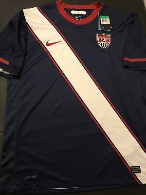 51b61319c Authentic Nike Dri-Fit USA Soccer Team Jersey Mens Size XL Navy New Tags  70