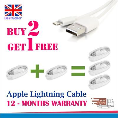 New Genuine Charging Sync Cable Charger Lead For Apple Ipad Iphone 5,6,7,8,x
