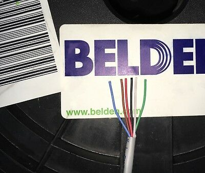 Belden 5504UE 22 AWG 6C PP FRPVC Gray Cable 25 Foot Length