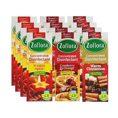 9x Zoflora Concentrated Antibacterial Disinfectant Cleaner 120ml Odour Remover